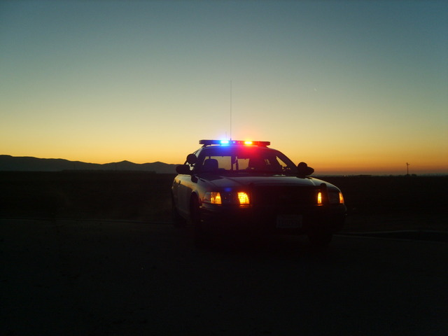 Police Car sunset
