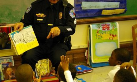 Aurora Police Officer Subs for Dad at Girl's School