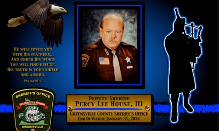 In Memoriam Deputy Percy Lee House, III