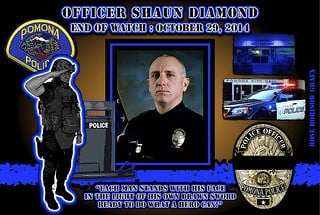 RIP Police Officer Shaun Diamond 2