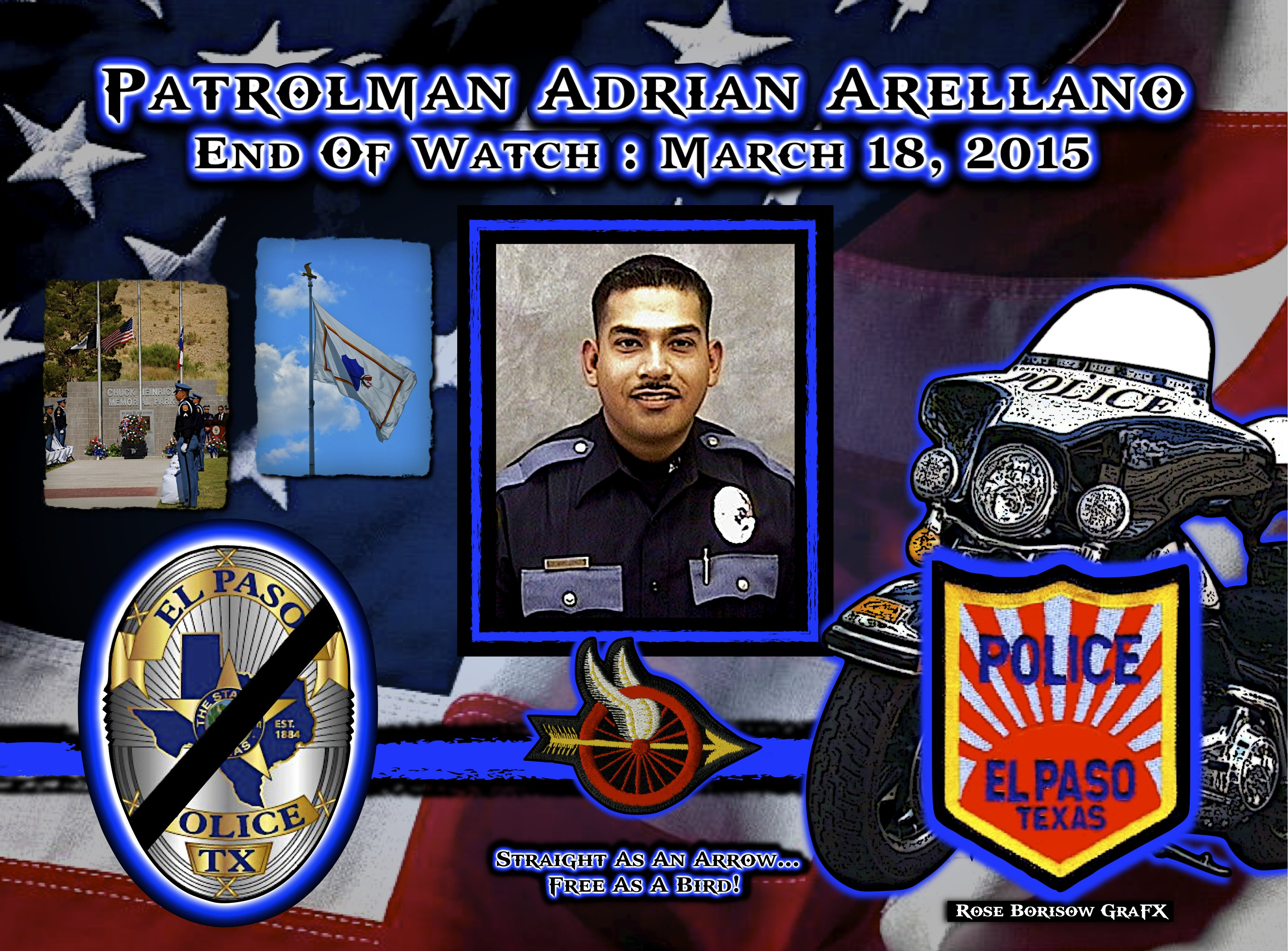 In memoriam officer adrian arellano law enforcement today for Texas department of motor vehicles el paso tx