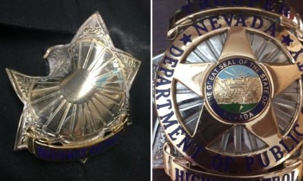 Badge protects NHP trooper from bullet after exchange of gunfire with suspect