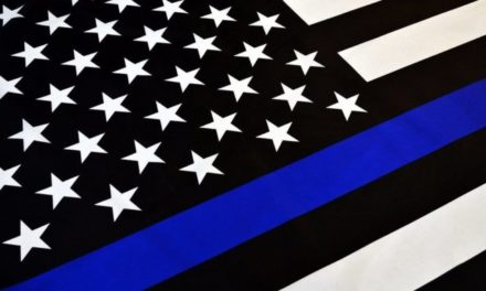 Citizens Flying Pro-Police Colors in New Mexico