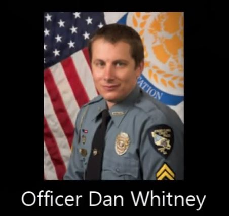 Officer Dan Whitney Saves Man Trapped in Burning Car