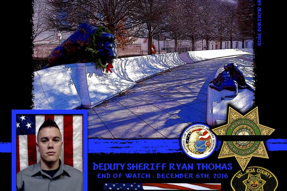 In Memoriam: Deputy Sheriff Ryan Thomas