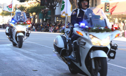 Police and Military Leave Fingerprints on 2017 Rose Parade