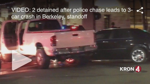 Police Unit Rammed in Oakland, Crazy Chase Ensues