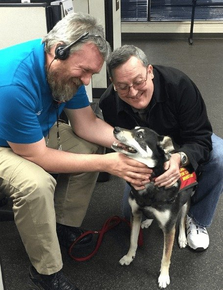 Therapy Dog Eases 9-1-1 Dispatcher Stress