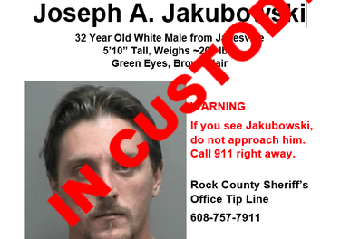 Manhunt Ends, Jakubowski Captured