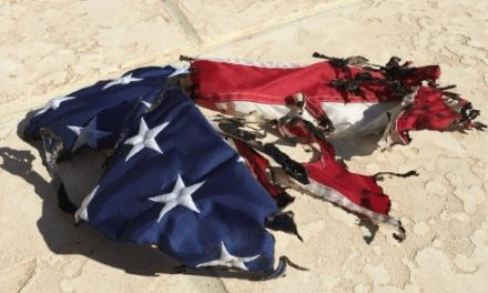Arsonist Burns American Flag of Marine Veteran