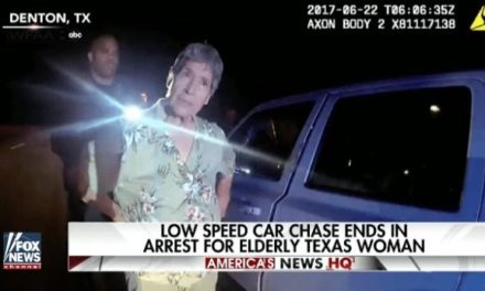 Obstinate Elderly Woman Takes Police on Chase