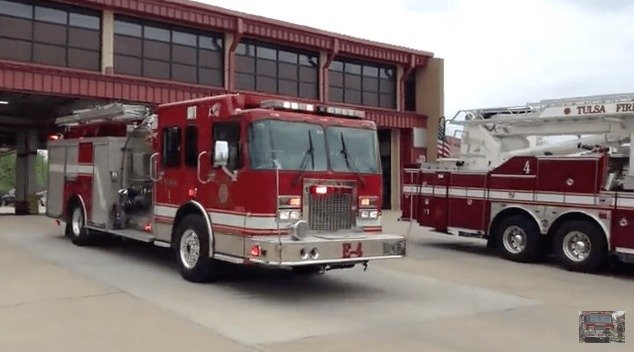 Tulsa Fire Department Removes Blue Stripes From Fire Trucks