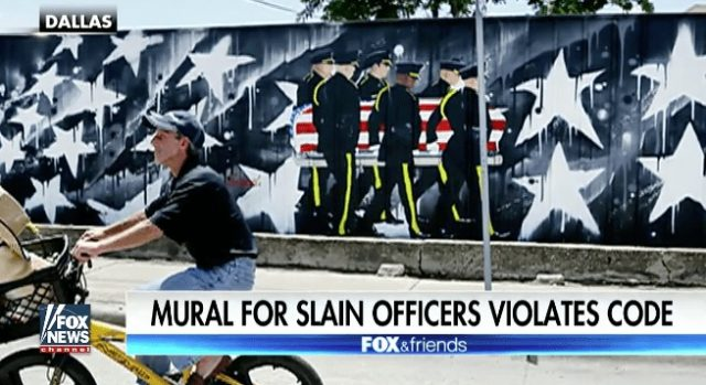 Mural Honoring Slain Dallas Police Officers Causing Problems for Owner