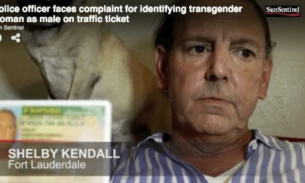 Officer Facing Disciplinary Action for Mis-Categorizing Transgender