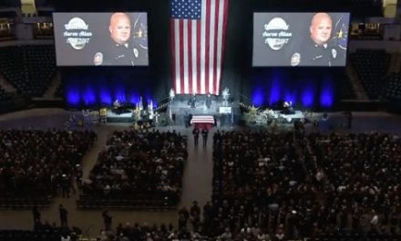 Deputy Injured by Accidental Discharge at Lieutenant's Funeral Service