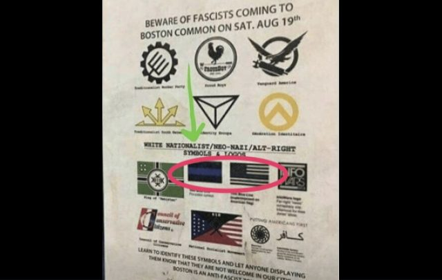 'Thin Blue Line' Labeled as 'White Nationalist' by Left-Wing Extremist