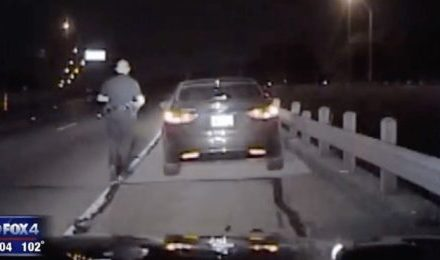 Video Shows Fort Worth Officer Thrown in Air During Collision
