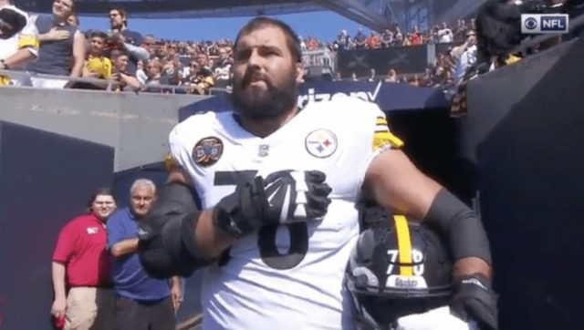 Former Army Ranger Chided for Standing During National Anthem