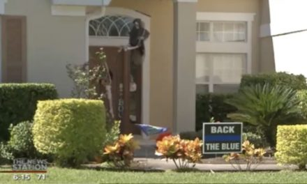 'Back the Blue' Yard Signs Under Assault