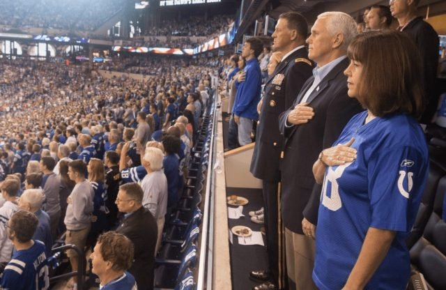 Vice President Walks Out on Football Game After Players Kneel During National Anthem