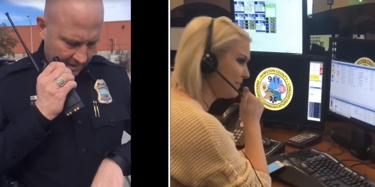 Special moment as lieutenant retires with daughter behind the dispatch mic