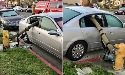 You could get hosed parking next to a fire hydrant