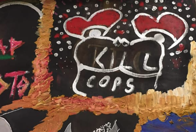 Artwork that includes 'kill cops' is creating controversy