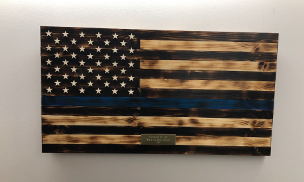 Officer-Made Thin Blue Line Flag Returns to Fallen Officer Memorial After Week Long Debate