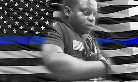 Cop destroys journalist's call to remove the 'Blue Lives Matter' flag
