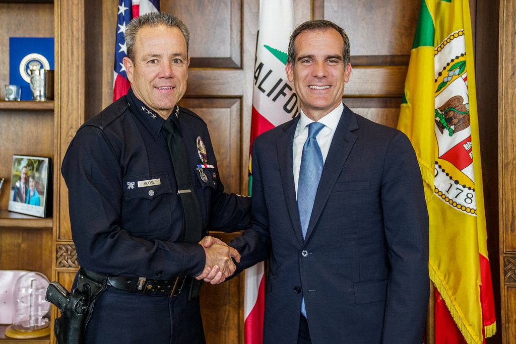Mayor Garcetti names Michel Moore as next Chief of the Los Angeles Police Department