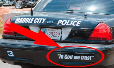 """A Message To Those Who Say """"In God We Trust"""" Doesn't Belong On Police Cars"""