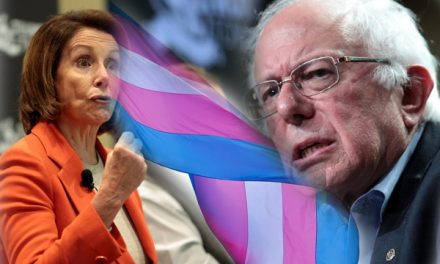 Sanders, Pelosi Replace POW-MIA Flags With Transgender Flags
