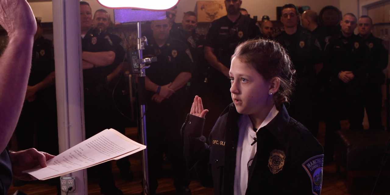Cop's Kid Gets Sworn In As Police Officer Before Upcoming Surgery