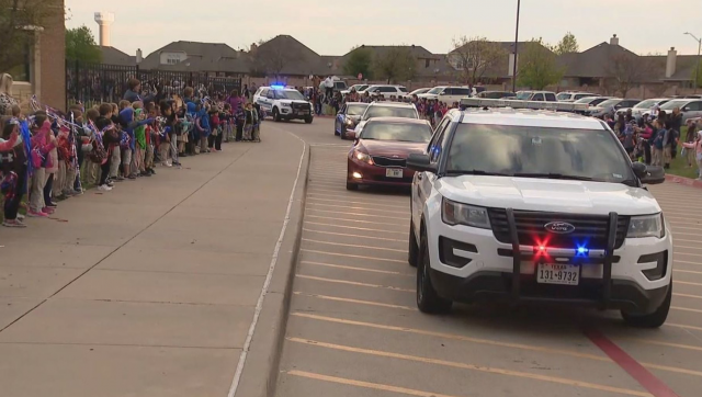 Officers give special police escort to 7-year-old boy fighting cancer