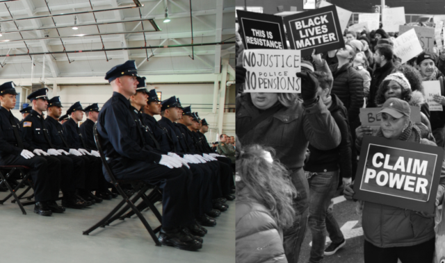 College Students Protesting Police Academy Graduation