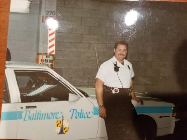 Michael J. Stefanowitz patrol car from his time as a decorated officer.