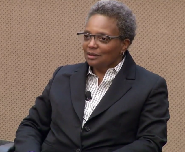 Lori Lightfoot at MacLean Center - Courtesy Wikimedia Commons