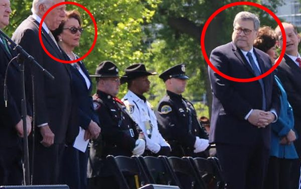 Pelosi won't protect cops.  So why did she show at their memorial service?