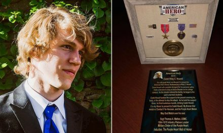Purple Heart, Bronze Star given to 'hero' UNCC student who died after tackling gunman