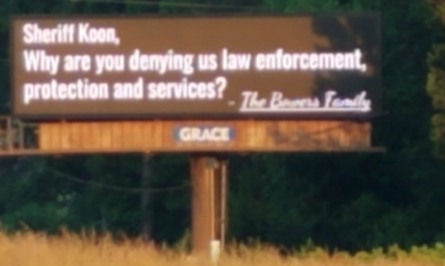 Angry landowner takes out billboards targeting sheriff