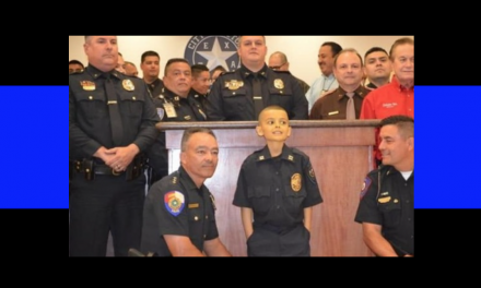 9-Year-Old Boy Battling Cancer Sworn in as Police Captain