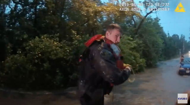 Incredible Video: Officers Rescue 3 Women, 1 Dog from Flash Flood