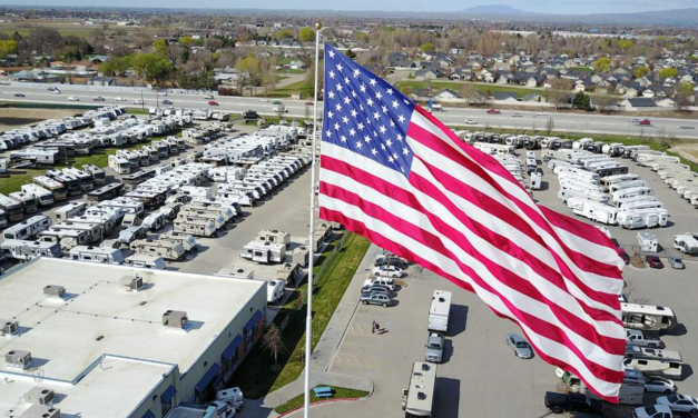 City sues RV business over giant American flag – but it's not coming down