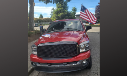 Man flying American flag in support of military finds truck and flag torched
