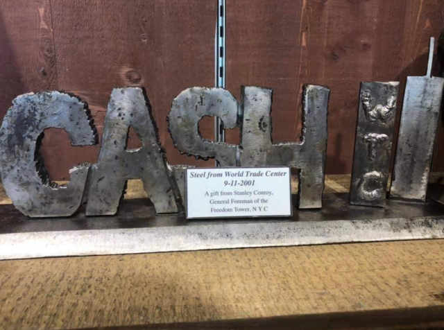 Police org: 9/11 steel should be displayed as a tribute, not a gift shop decoration