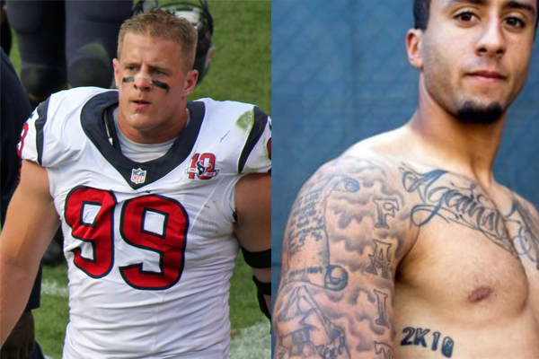 While Kaepernick bashes cops, JJ Watt is busy helping to honor WWII veterans.  Where's the media?