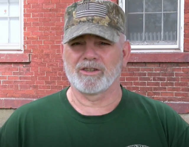 Ralph Bush, a military veteran and a worker at O-AT-KA Milk Products