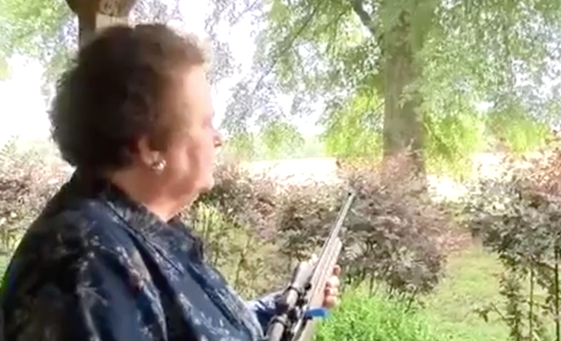 Grandma busts out freedom tool, holds car thief at gunpoint until police arrive