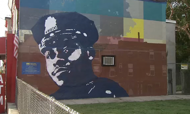 Coward defaces memorial of murdered officer – $10k reward offered to find them