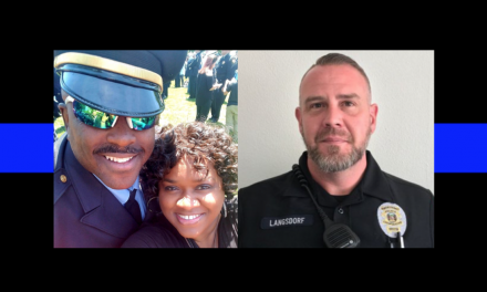 Wounded officer's wife speaks out after newspaper publishes live link of officer's death